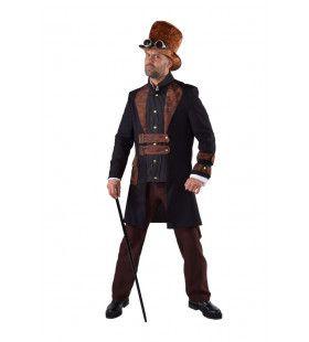 Steampunk Science Fiction Stoomkracht Man Kostuum