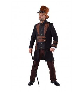 Steampunk Science Fiction Stoomkracht Man Kostuum
