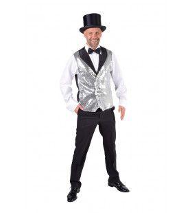 Vest Showman Theater Zilveren Pailletten