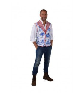 Hollands Vest Delfs Blauw Man