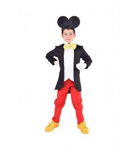 Piekfijn Machtige Muis Mickey Jongen Kostuum