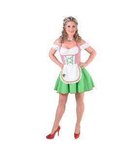 Groene Grazige Alpenweide Dirndl Vrouw Kostuum
