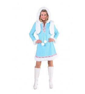 Lekker Warm Eskimo Sneeuwballen Vrouw Kostuum