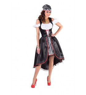 Grijnzende Schedels Piraat Vrouw Kostuum