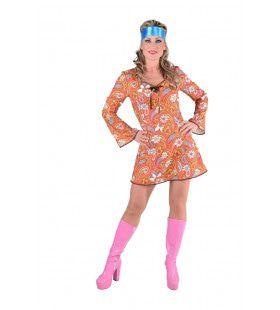 Psychedelische Paisley Wei Vol Bloemen Vrouw Kostuum