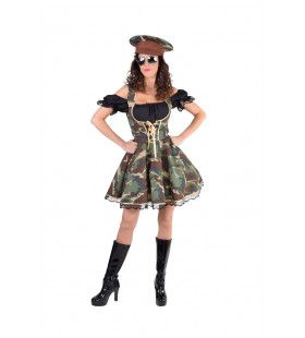 Camouflage Amazone Leger Vrouw Kostuum