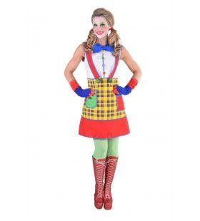 Olijke Clown Pippi Vrouw Kostuum