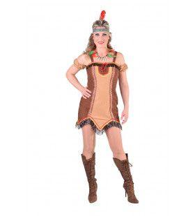 Tanja Totem Wilde Westen Indiaan Vrouw Kostuum