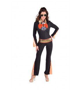Las Vegas Show Elvis Popster Vrouw Kostuum