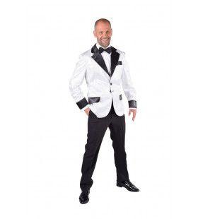 Glitter Colbert Casino Royal Wit Man