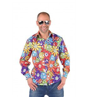 Flower Power Lachebekjes Hippie Bloemen Hemd Man