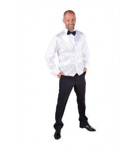 Wit Show Vest Pailletten Man