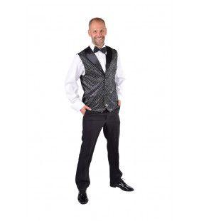 Zwart Show Vest Pailletten Man