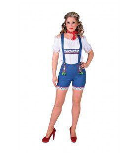 Tiroolse Hotpants Jeans Oktoberfest Vrouw
