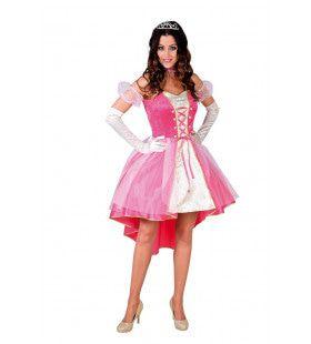 Lieftallige Prinses Roze Wolk Vrouw Kostuum