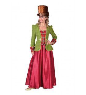 19e Eeuws Victoriaans Dickens Vrouw Kostuum