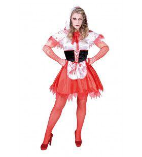 Bloederig Roodhapje Wolf Vrouw Kostuum
