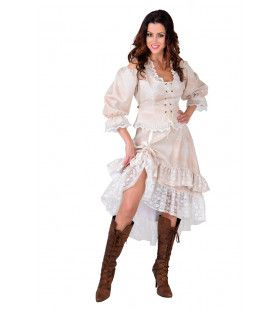 Charmante Saloon Dame Arizona Creme Vrouw