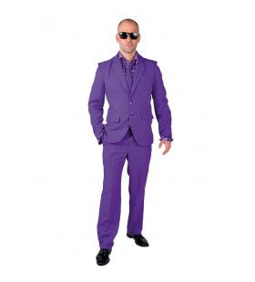 Cool Men In Purple Man Kostuum
