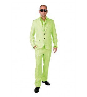 Cool Men In Green Man Kostuum