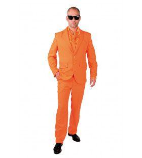 Cool Men In Orange Man Kostuum
