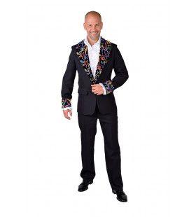 Disco Colbert Zwart Multi Fluor Man
