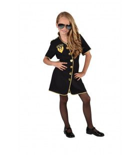 Nooit Meer Misdaad Politie Meisje Kostuum