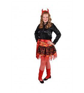 Hete Hel Vlammen Rok Halloween Meisje