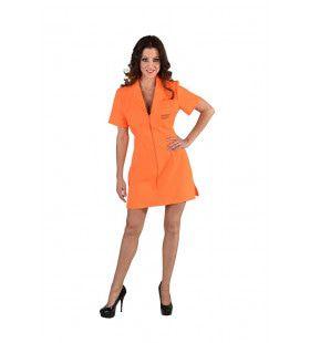Amerikaanse Inmate Gevangene Vrouw Kostuum