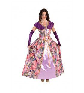 Markiezin Des Fleurs Rozen Vrouw Kostuum