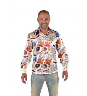 Glimmend Overhemd Suiker Shot Man