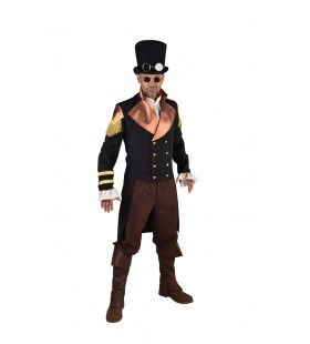 Steampunk Jas Glimmend Bronzen Kraag Man