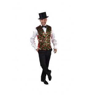 Gilet Showmaster Sterren Pailletten Bont Man