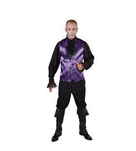 Spinnenweb Halloween Gilet Paars Man
