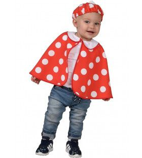 Vliegenzwam Rood Met Witte Stippen Bos Kind Kostuum