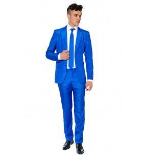 Royal Solid Blue Suitmeister Man Kostuum