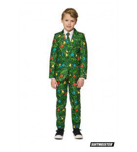 Groene Kerstversieringen Kerstmis Jongen Kostuum