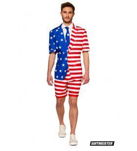 America First Vlag Verenigde Staten USA Zomer Man Kostuum