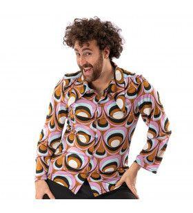 Jaren 70 Hippie Soul Disco 60s Psychedelische Ogen Shirt Man