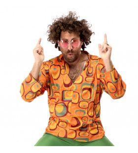 Jaren 70 Hippie Soul Disco 60s Agent Orange Shirt Man