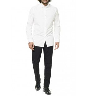Universeel Wit Overhemd Voor Onder Een Pak Man