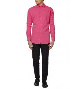 Mister Pink Roze Overhemd Lange Mouwen Man