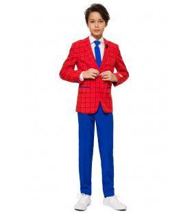 Spiderman Op Zakenreis Superheld Tiener Jongen Kostuum