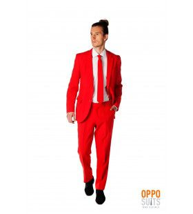 Intense Red Devil Opposuit Kostuum Man