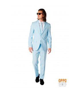 Lichtblauw Cool Blue Opposuit Kostuum Man