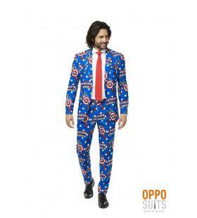 Captain America Marvel Strip Man Kostuum