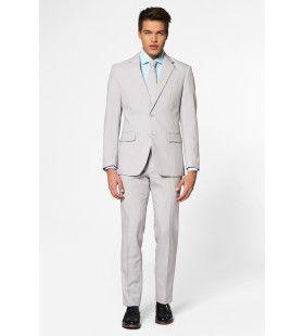 Helemaal Grijs Groovy Grey Man Kostuum