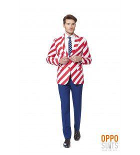 Usa United Stripes Opposuit Man Kostuum