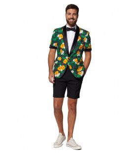 Tropical Flower Treasure Short Opposuit Man Kostuum