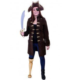 Dames Piratenjas Bouckaniere Vrouw Kostuum
